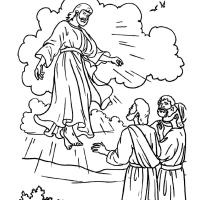 Isusovo uzašašće - velika slika, bojanka