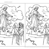 Isusovo uzašašće - bojanka
