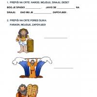 Mojsije - radni list, 6. razred