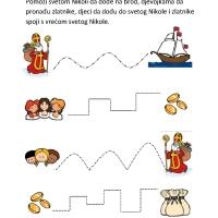 Sveti Nikola - spoji slike prema zadanim linijama