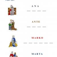 Svi sveti - prepiši riječi
