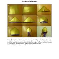 Izradimo mitru u osam koraka – origami